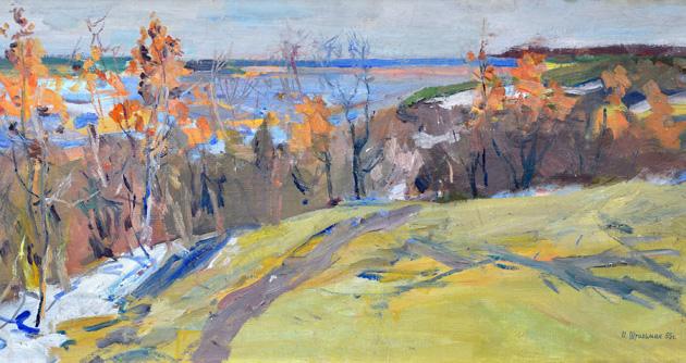 ШТИЛЬМАН ИЛЬЯ (1902-1966) «Осень в Седневе», 1965