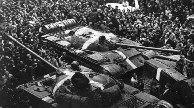 Радянські танки Т-55 під час операції «Дунай», 1968 рік / Фото: Wikimedia Commons