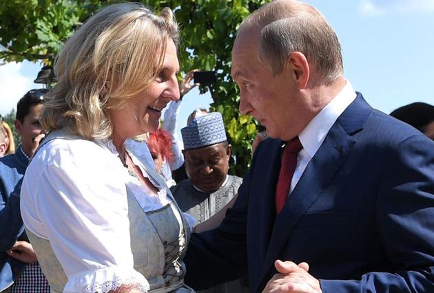 Карін Кнайсль, Володимир Путін / Фото: Reuters