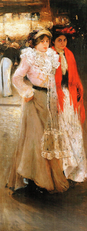 Парижанки біля кав'ярні, 1902 р.