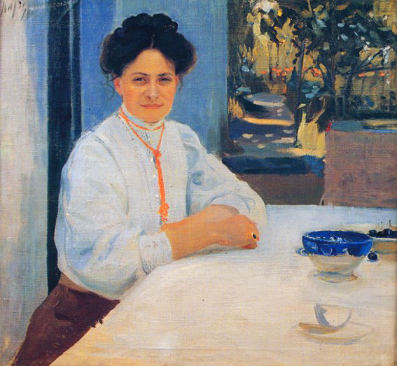 """Портрет Маргарити Мурашко на о.Капрі"" (1909)"