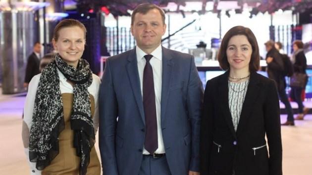 Людмила Козловская, Андрей Нэстасе и Майя Санду