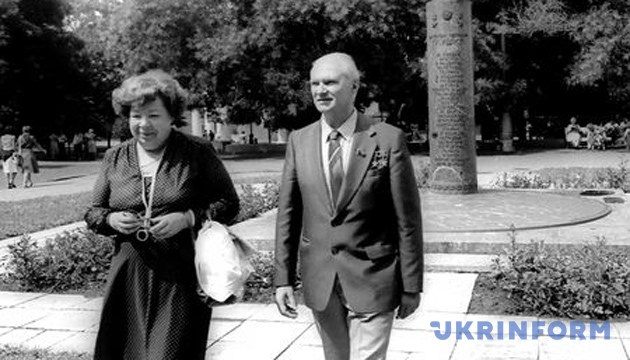 Валентин Глушко з дружиною