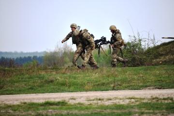 联合部队行动:武装分子在新卢甘斯克附近使用迫击炮袭击