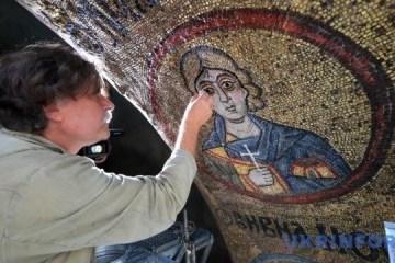 基辅索菲亚教堂启动马赛克和壁画修复工作