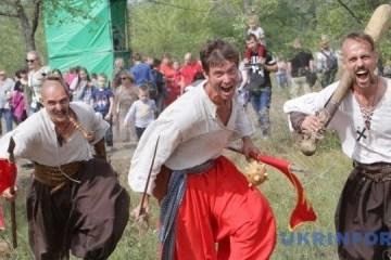 节日期间第聂伯市将举行击剑和攻打堡垒活动