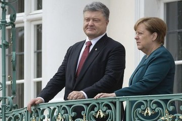 ポロシェンコ大統領とメルケル独首相電話会談 選挙、露拘束の捕虜、国連ミッションについて協議