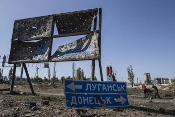 Yermak y Kramp-Karrenbauer discuten el tema de lograr la paz en el Donbás