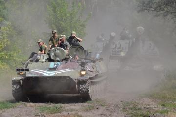 Donbass: les Russes déploient des mortiers de calibre 120mm et 82mm