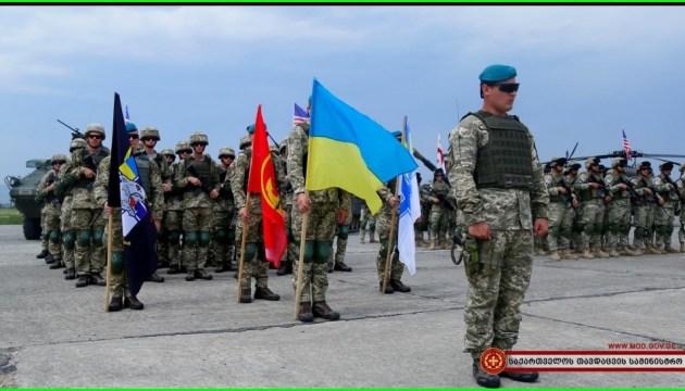 In Georgien Militärübungen Noble Partner-2018 gestartet