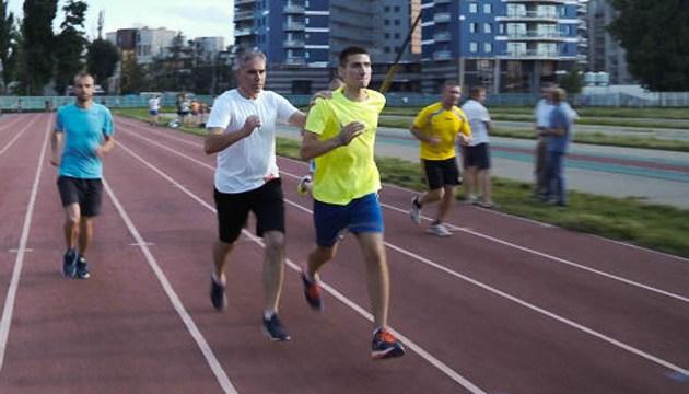 Ветерани АТО провели спільне тренування з марафонцями збірної України