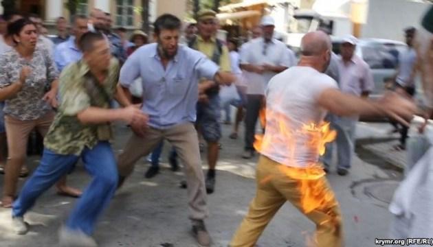 """В Симферополе активист """"поляны протеста"""" хотел совершить акт самосожжения"""