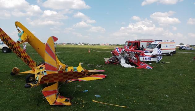 У Румунії під час підготовки до авіашоу зіткнулися літаки