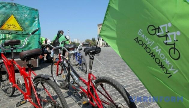В Харькове стартовал велопробег