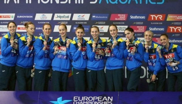 Синхронное плавание: Украина выиграла пятую медаль на чемпионате Европы
