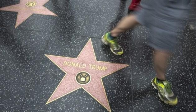 Зірка Трампа зникне з Голлівудської алеї слави