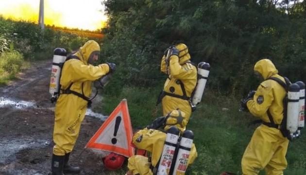Разлитую возле Днипра азотную кислоту везли без лицензии