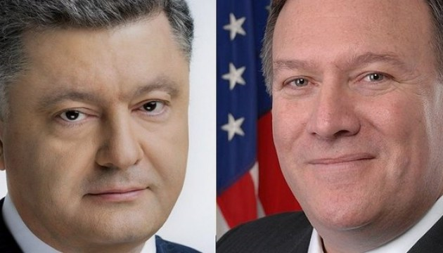 Poroshenko, Pompeo discuss Donbas and Crimea, release of Ukrainian hostages and political prisoners