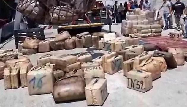 Італійська поліція вилучила 20 тонн гашишу на іноземному судні