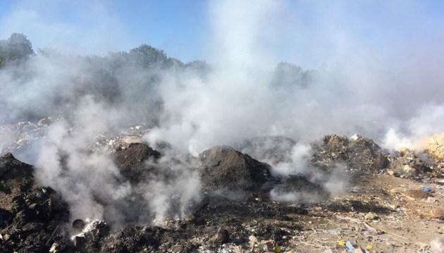 На Полтавщині горить сміттєзвалище