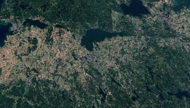Последствия аномальной жары в Швеции видны из космоса