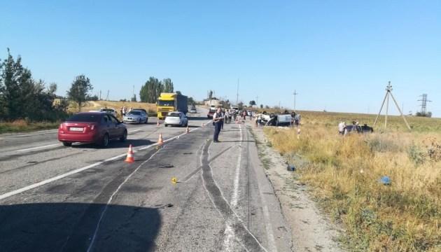 Под Запорожьем столкнулись маршрутка и КамАЗ, погибли пятеро детей