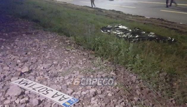 В Киеве Audi потеряла номер, убегая с места смертельного ДТП