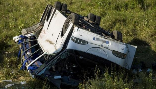 В Венгрии перевернулся микроавтобус с украинцами, 14 пострадавших