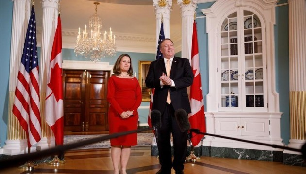 U.S., Canadian foreign ministers discuss Ukraine