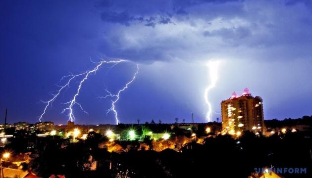 Thunderstorm warning declared in Kyiv