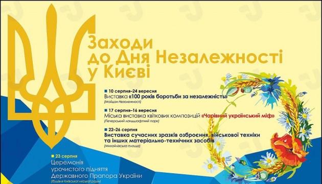 Мероприятия ко Дню Независимости в Киеве