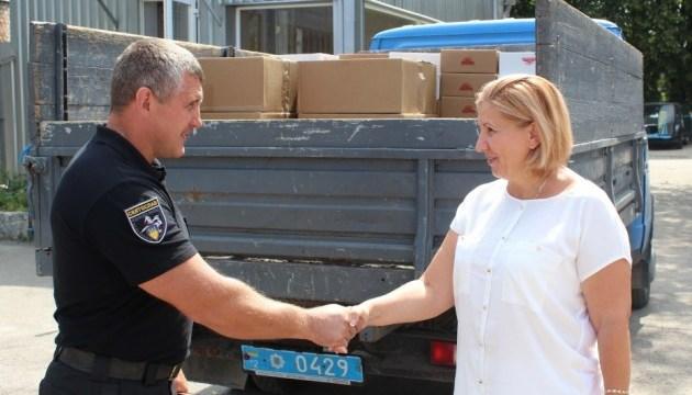 Вдова бойца АТО передала на передовую 750 килограммов продуктов