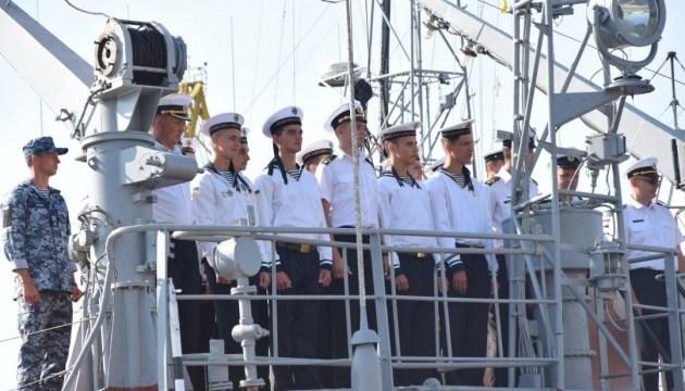 Корабли с курсантами вернулись в Одессу после учений в Средиземном море