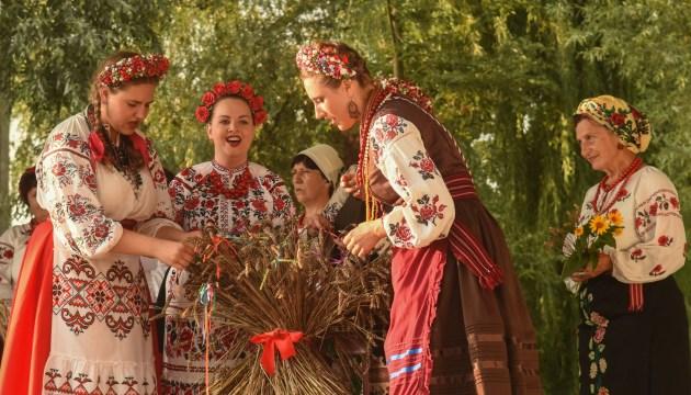 Ancient Ukrainian tradition of celebrating harvest festival reproduced in Kyiv region