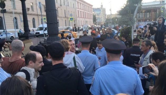 У Москві затримали учасників акції на підтримку Сенцова - ЗМІ