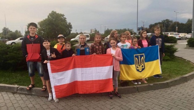 Niños de los defensores ucranianos fallecidos descansarán en Viena