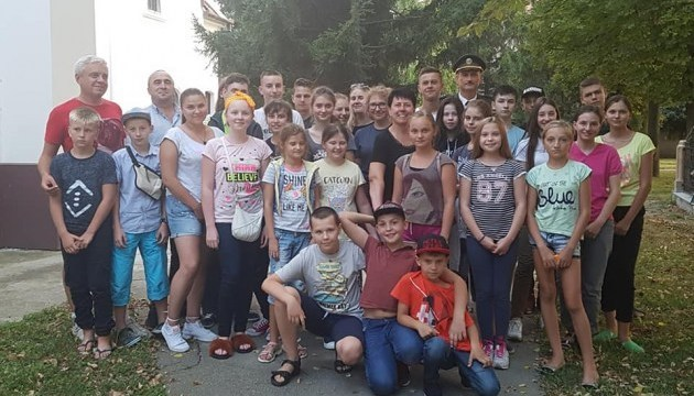 Сhildren of Ukrainian soldiers for first time to spend summer holiday in Serbia
