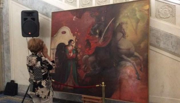 У Раді експонуються дві нові картини «Покрова» та «Мазепа»
