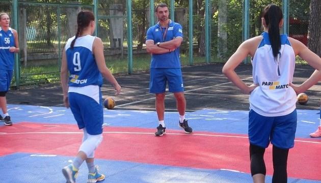 Женские баскетбольные сборные Украины 3х3 провели тренировку на День Независимости