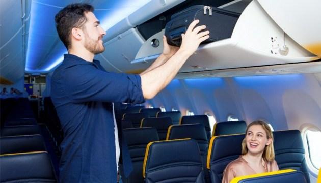 Ryanair значно обмежить перевезення ручної поклажі