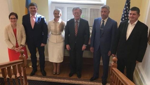 """""""Батьківщина"""" повідомила про зустріч Болтона з лідерами фракцій Ради"""