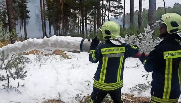 Пожар вблизи Берлина взят под контроль, но не ликвидирован