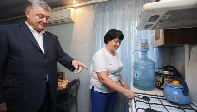 Порошенко особисто переконався у відновленні газопостачання Авдіївки