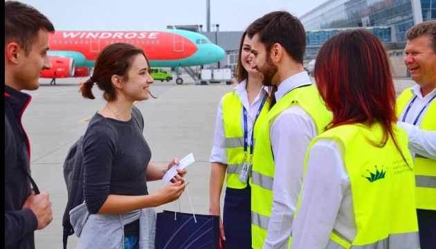 Львовский аэропорт встретил миллионного туриста в 2018 году