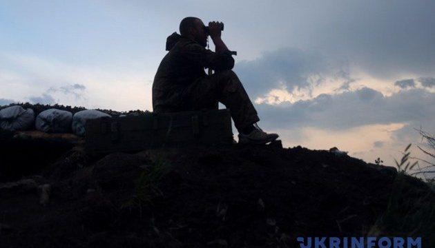 Militants launched 32 attacks on Ukrainian troops in Donbas in last day