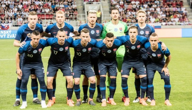 Словаччина назвала склад на футбольні матчі з Данією та Україною
