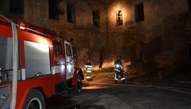 На территории Клеванского замка произошел пожар
