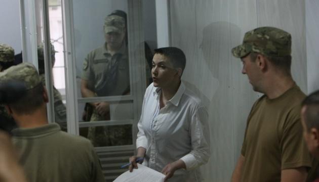 La cour d'appel a laissé Nadia Savtchenko en garde à vue