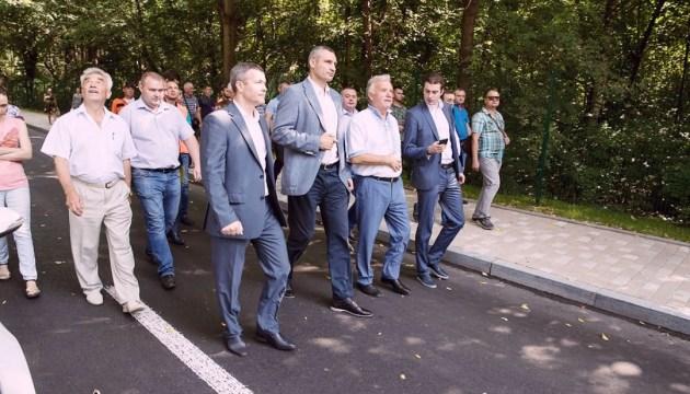 Кличко проінспектував вулицю Генерала Родимцева після капремонту