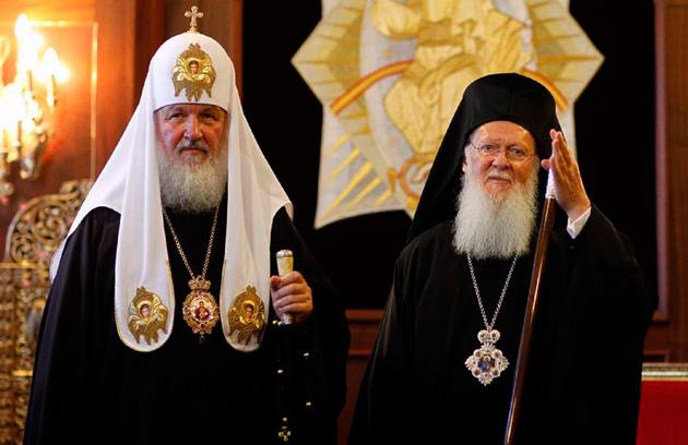 Патриарх Кирилл и патриарх Варфоломей / Фото из открытых источников
